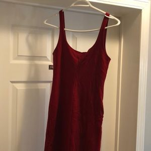 Red slim fitted dress